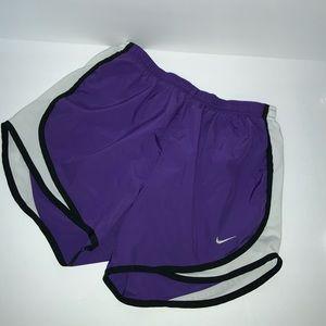 Nike DRI Fit Running Shorts Purple Size Small